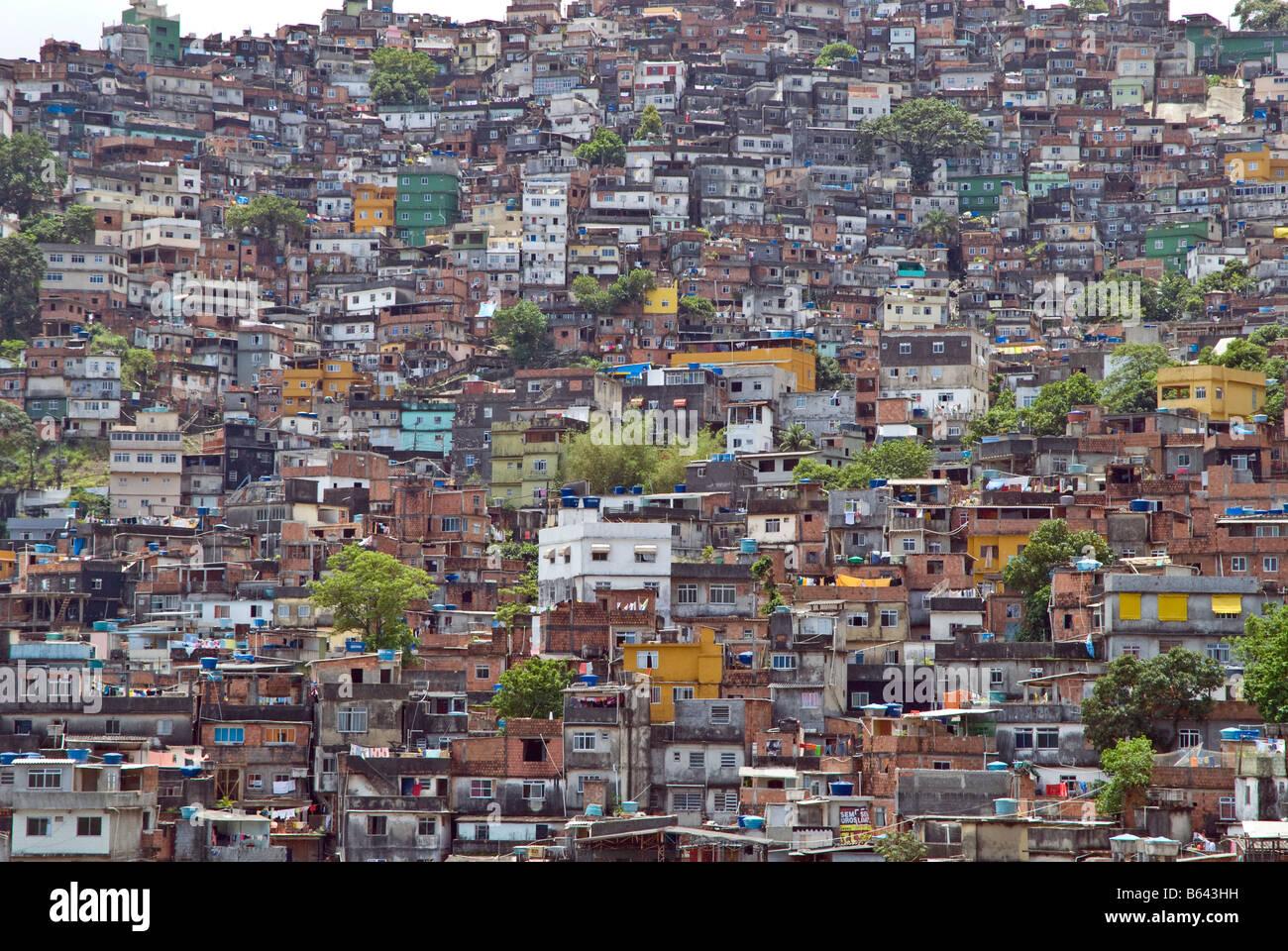 rocinha the largest favela slum in rio de janeiro brazil stock