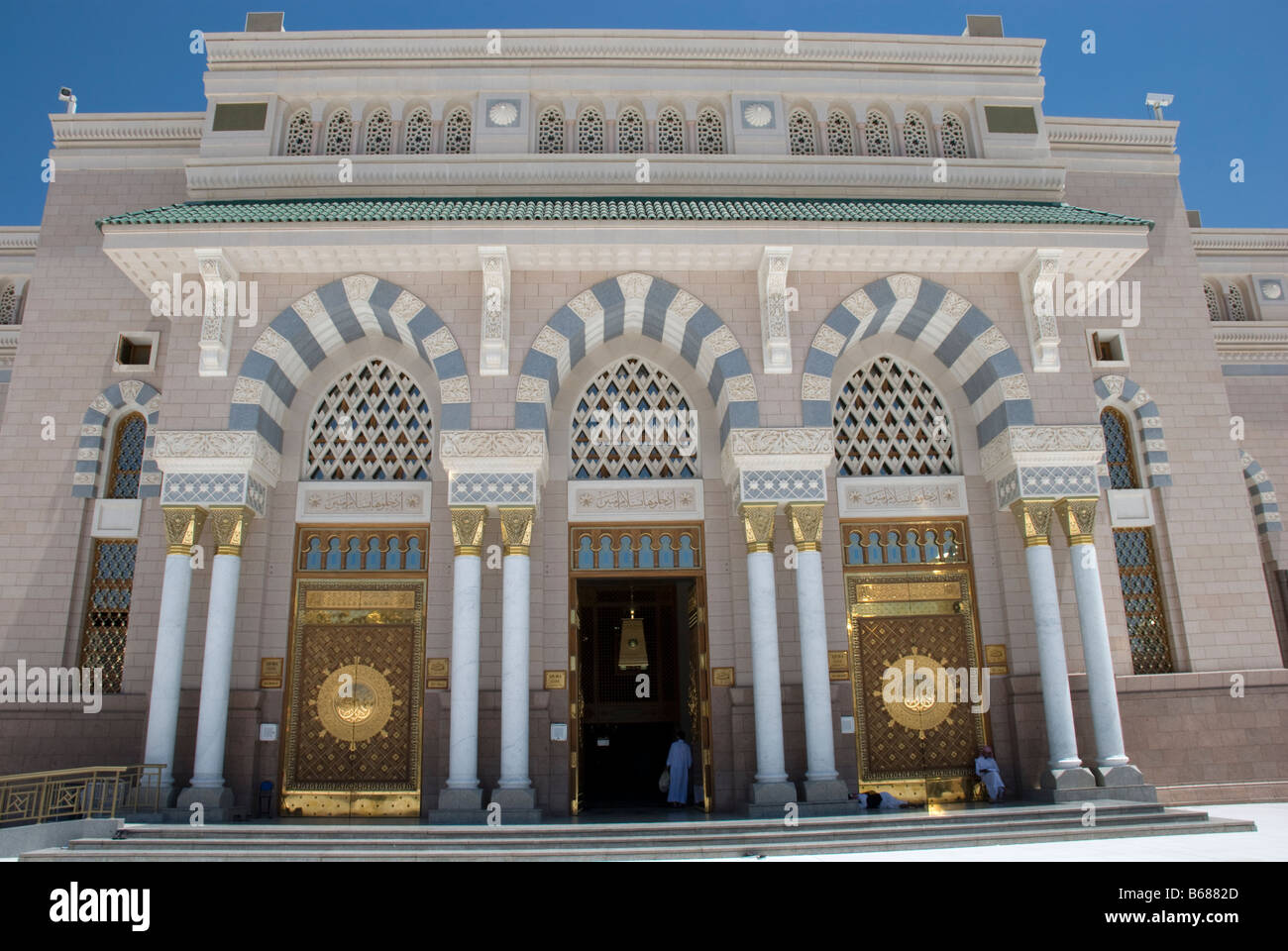 Doors at the Quba gate The Mosque of the Prophet Masjid al Nabawi Madinah Saudi Arabia & Doors at the Quba gate The Mosque of the Prophet Masjid al Nabawi ...