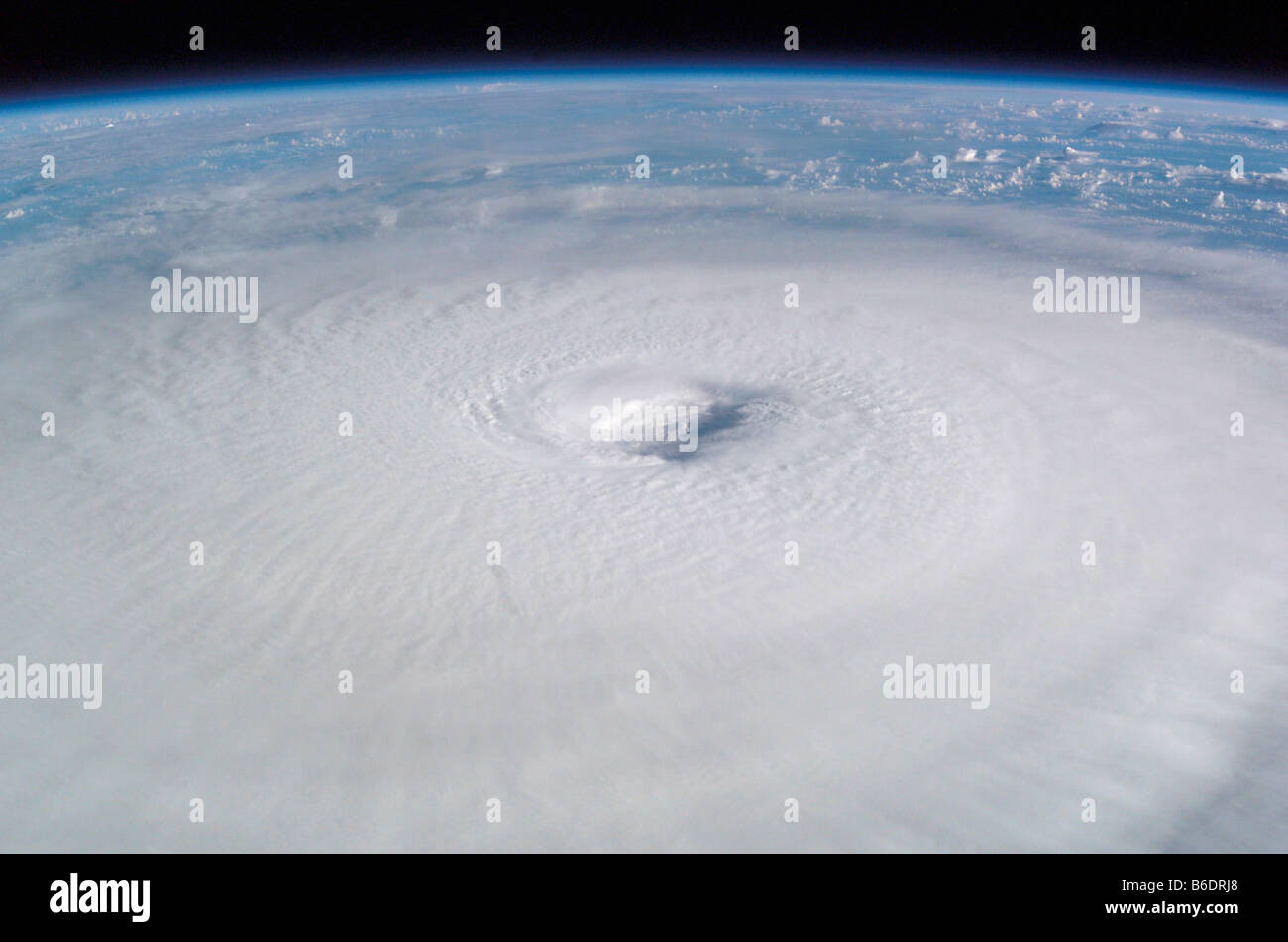 Hurricane Isabel. This image was taken from the International Space Station on 13th September 2003. Stock Photo