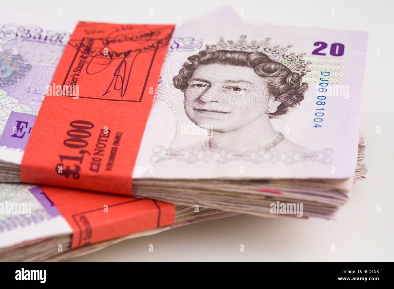 One thousand English pounds - Stock Image