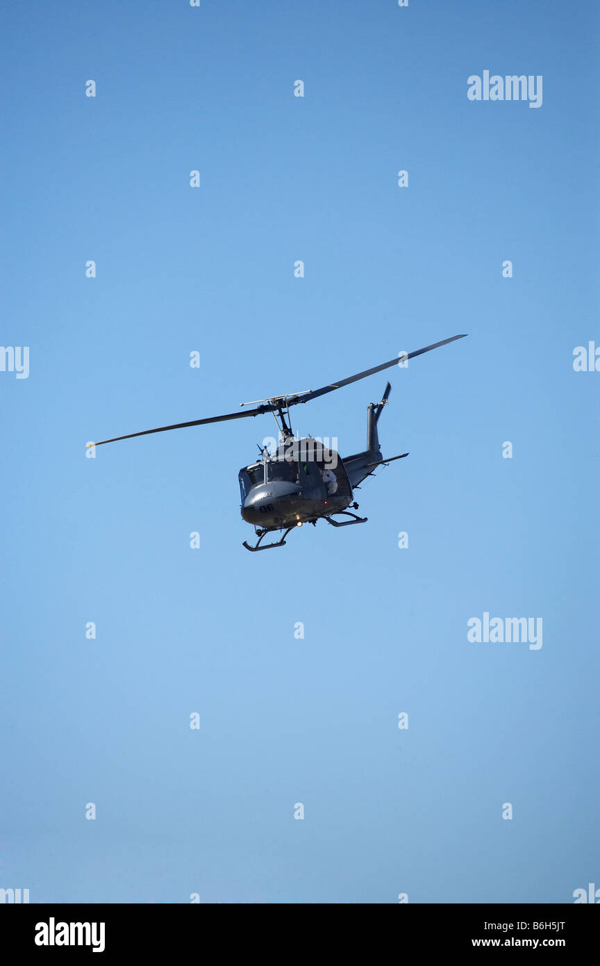 Iroquois Bell UH 1H Iroquois 205 Helicopter Warbirds over Wanaka Airshow Wanaka South Island New Zealand - Stock Image