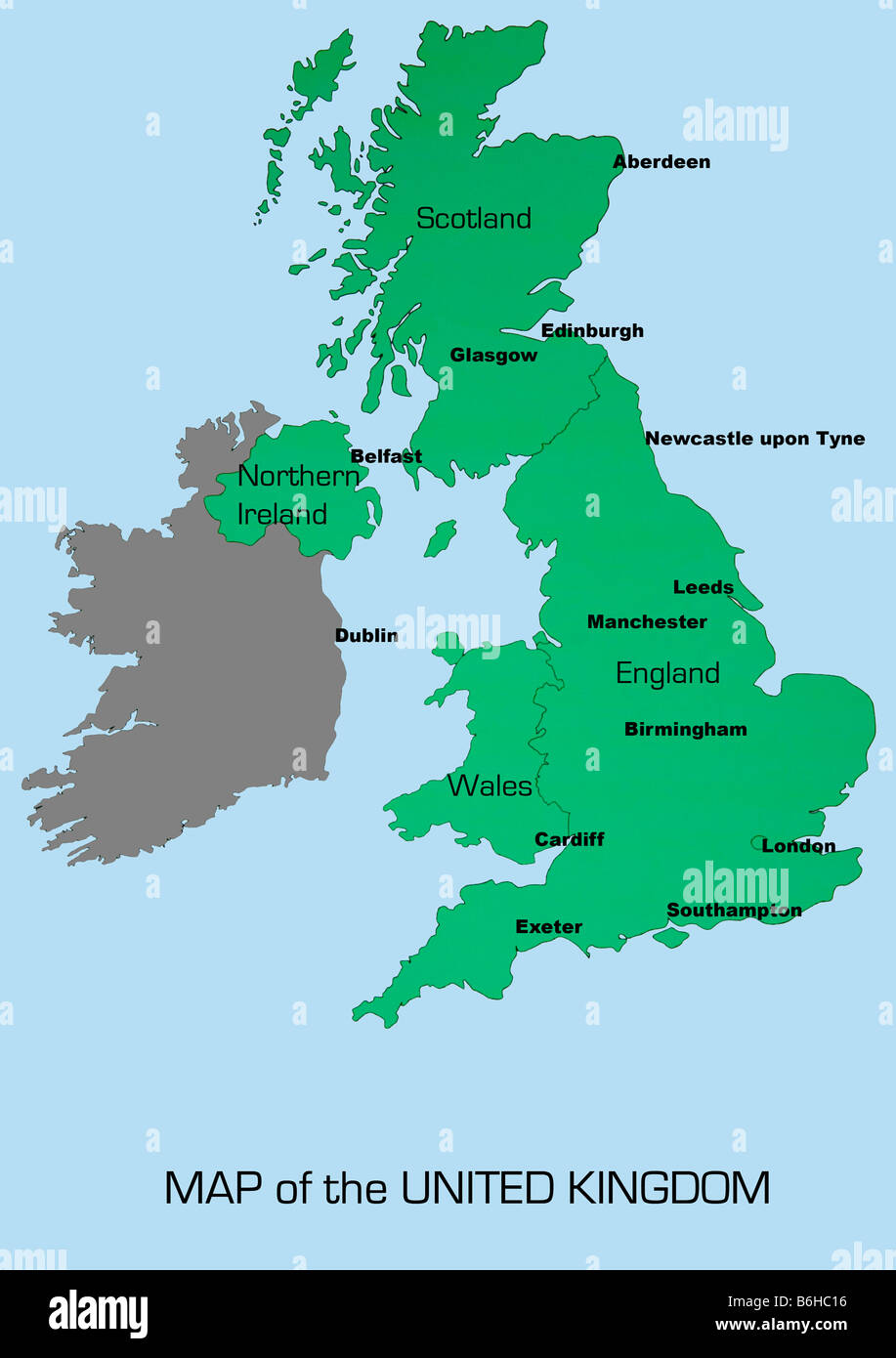 UK map showing England Scotland Wales and