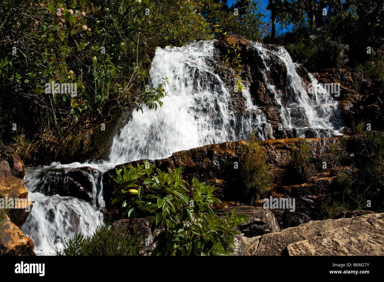Cachoeiras Rio Cristal Chapada dos Veadeiros Veadeiros Tableland Goias Brazil Stock Photo