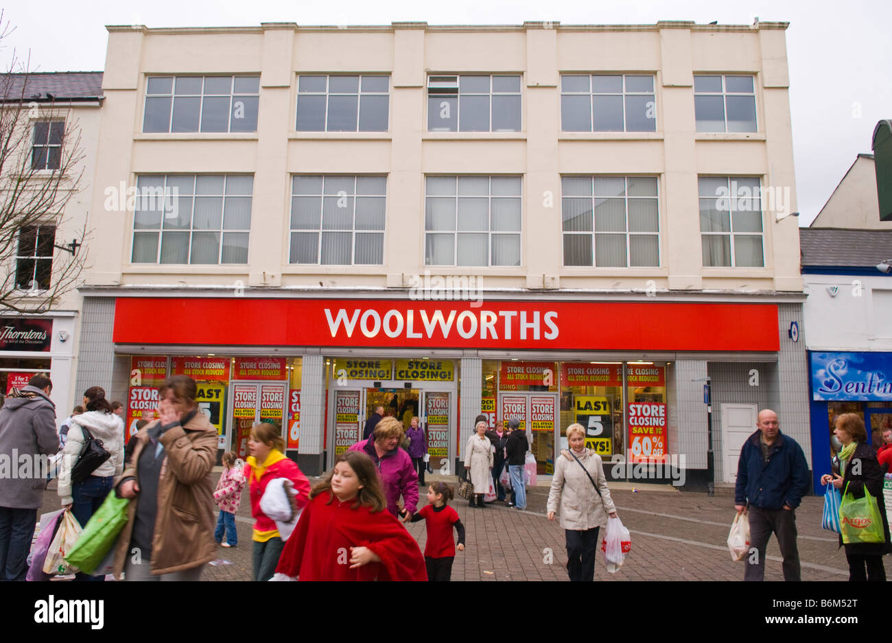 This Woolworths store opened in 1923 Aberdare South Wales UK as with others in the group it is in the process of Stock Photo
