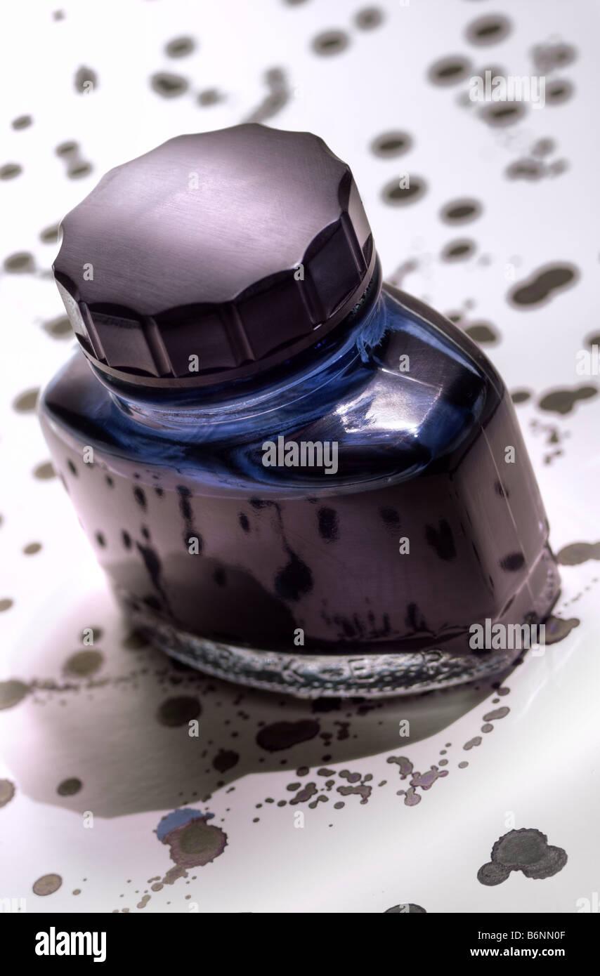 Ink bottle Stock Photo