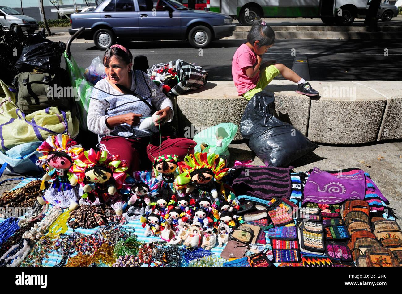Street vendor, Mexico City - Stock Image