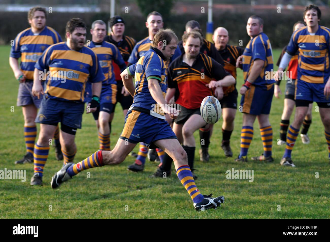 Rugby Union at club level, Leamington Spa, England, UK - Stock Image