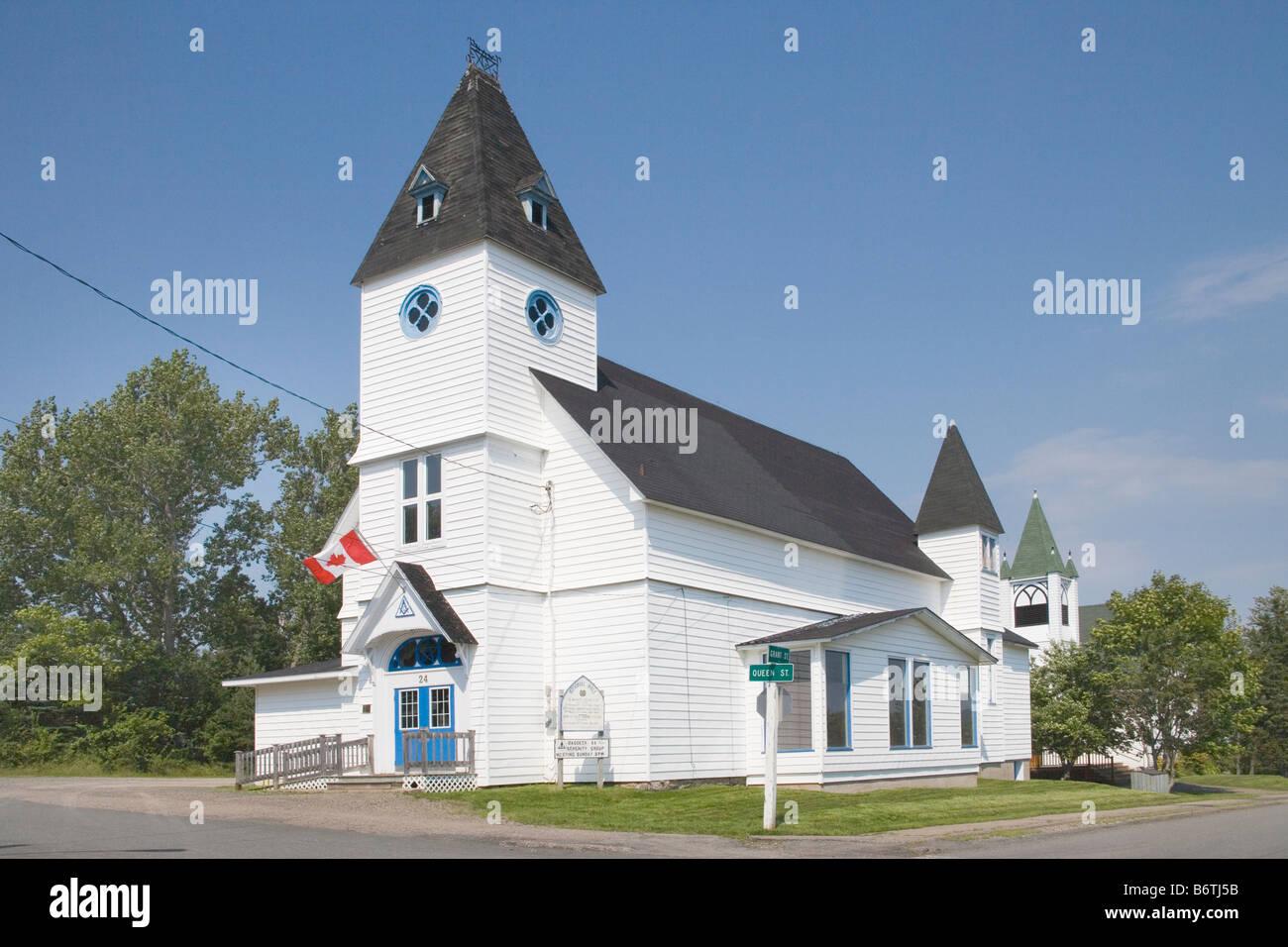 freemasons hall baddeck [cape breton island] canada Stock Photo