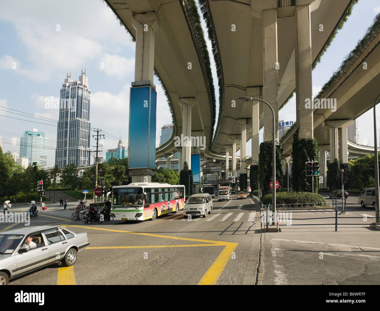 Road in shanghai - Stock Image
