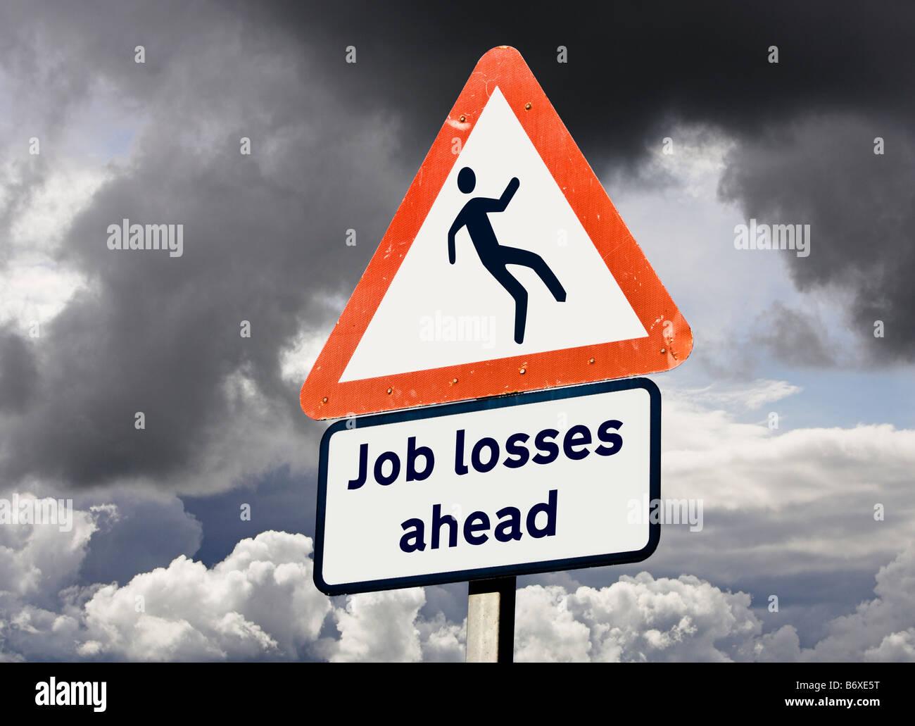 Unemployment job losses concept UK - Stock Image
