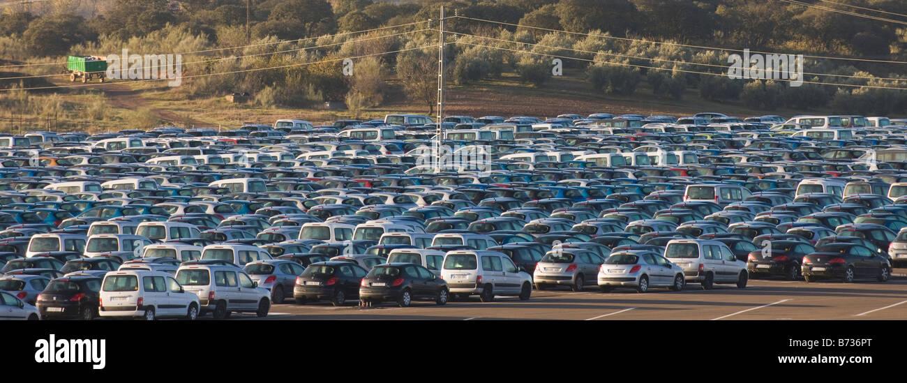 Storage site for unsold cars near Riofrio Granada Province Spain ...