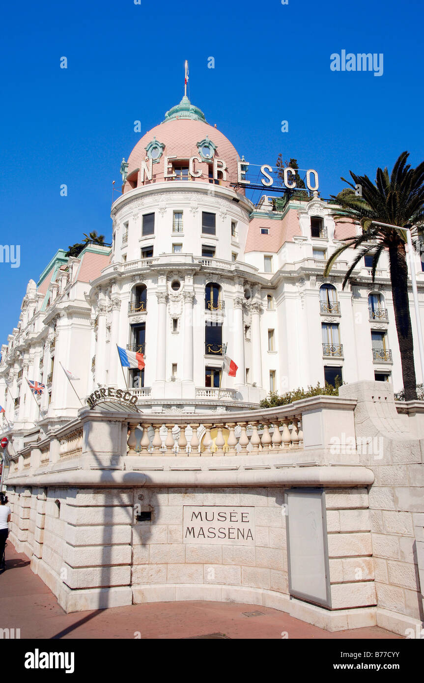 Hotel Negresco, Nice, Alpes-Maritimes, Provence-Alpes-Cote d'Azur, Southern France, France, Europe - Stock Image