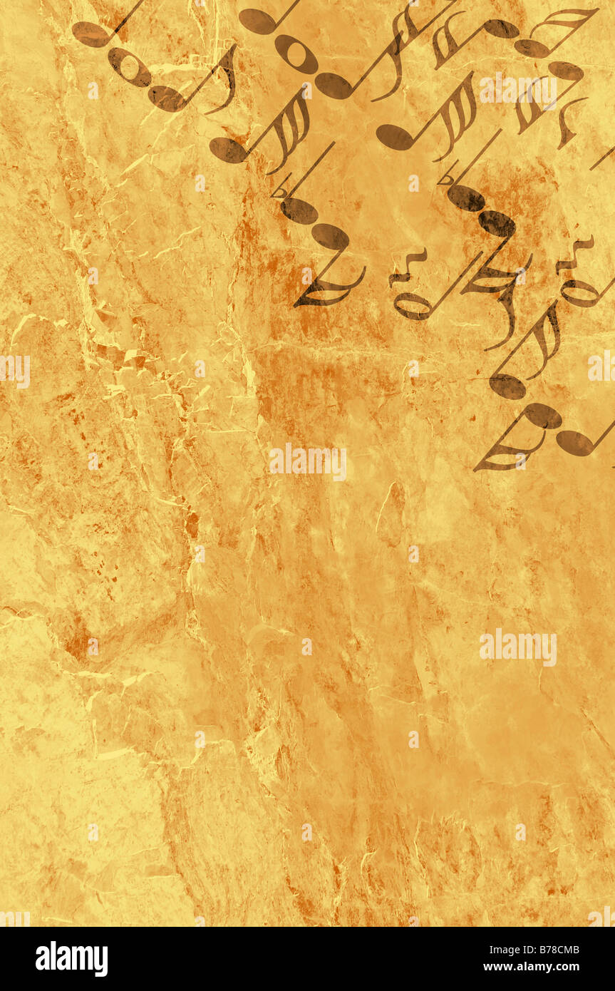 Image of the music background in grunge style - graphic - Stock Image