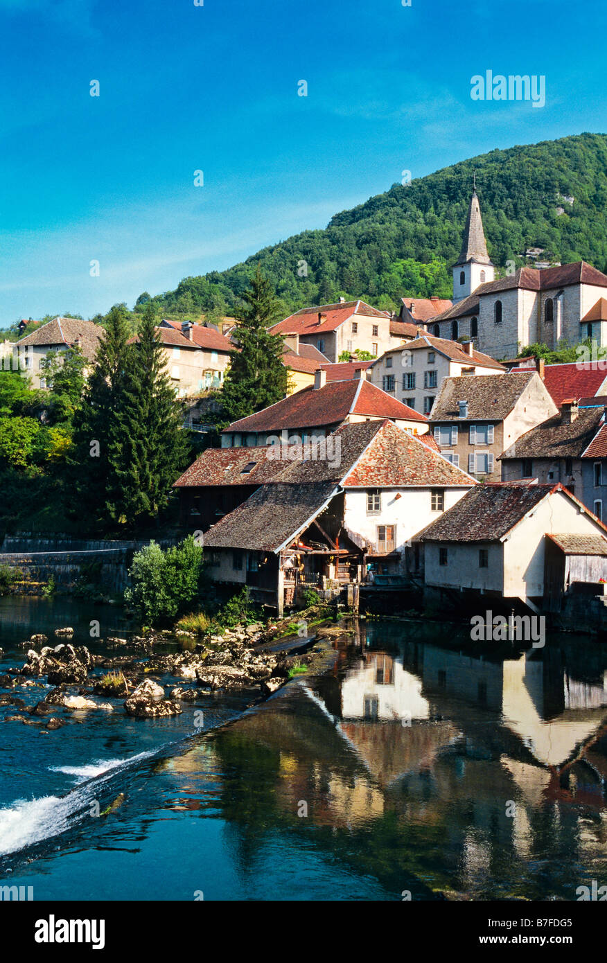 LODS LOUE VALLEY DOUBS FRANCHE COMTE FRANCE - Stock Image