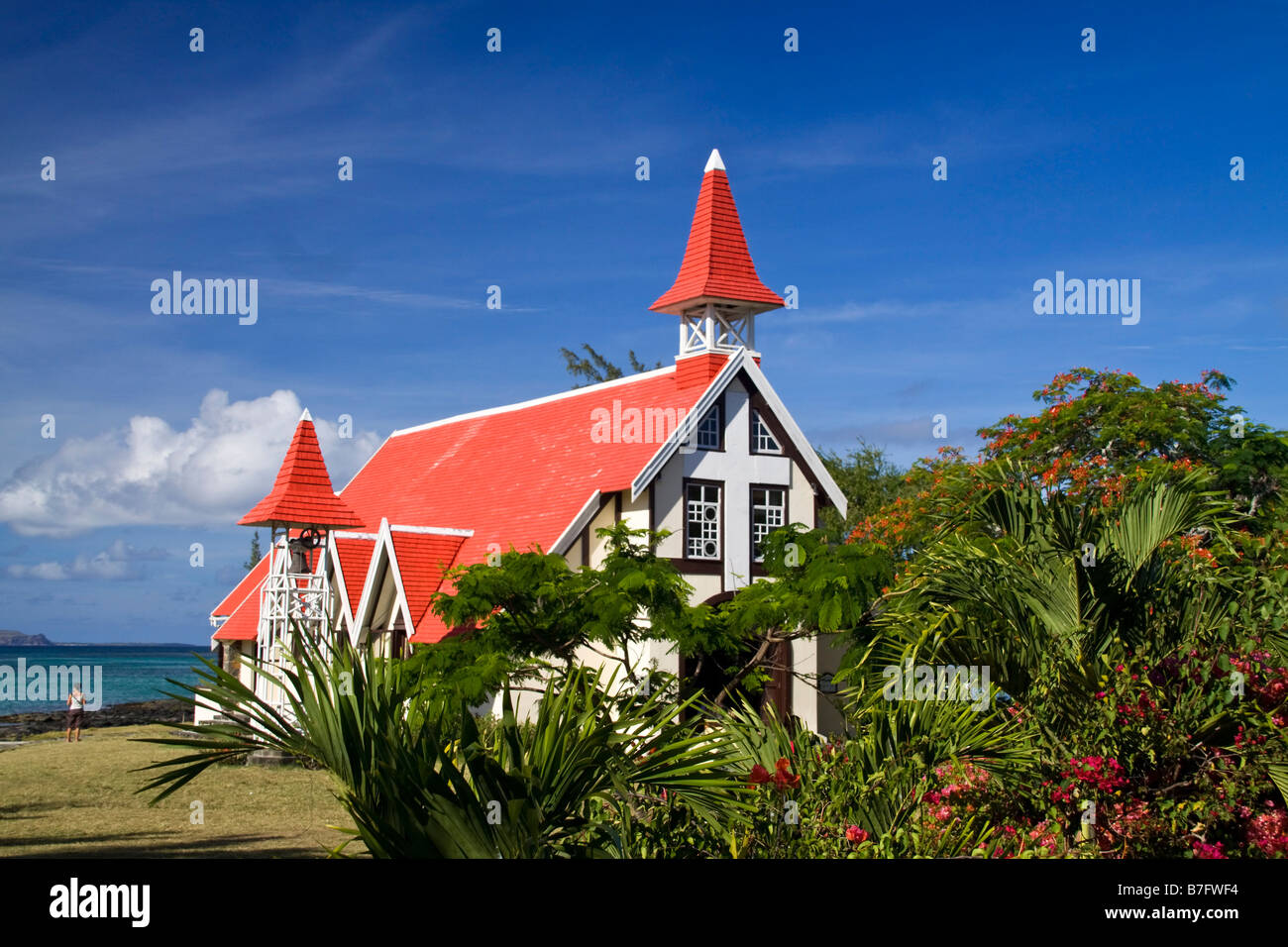 Eglise de Cap Malheureux Mauritius Africa Stock Photo