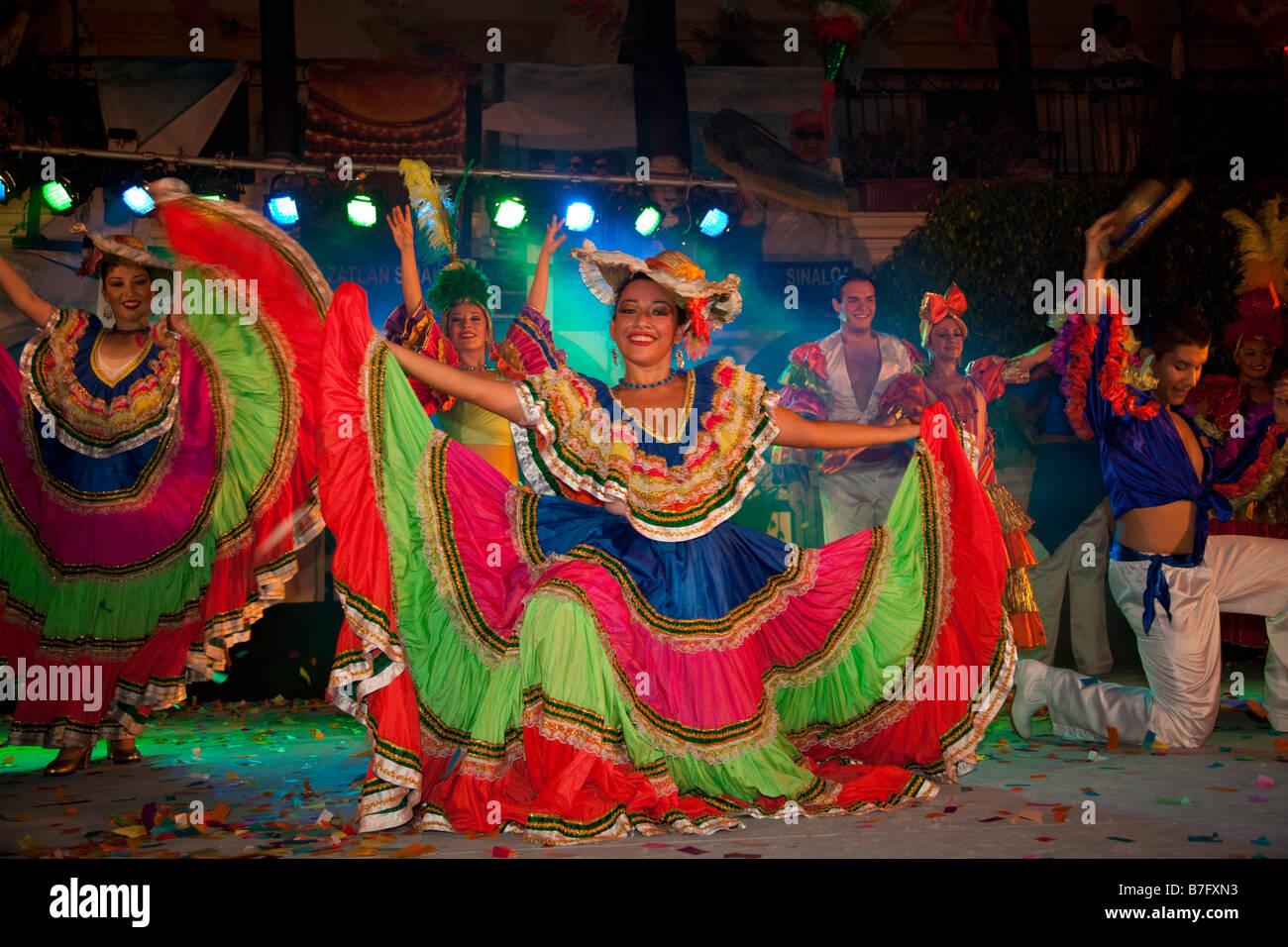 Dancing Old Town Plaza Machado Mazatlan Sinaloa Mexico - Stock Image