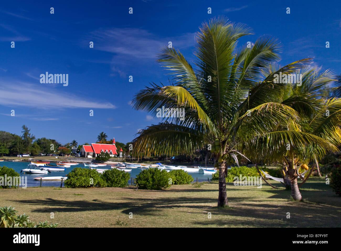 Eglise de Cap Malheureux Mauritius Africa Stock Photo