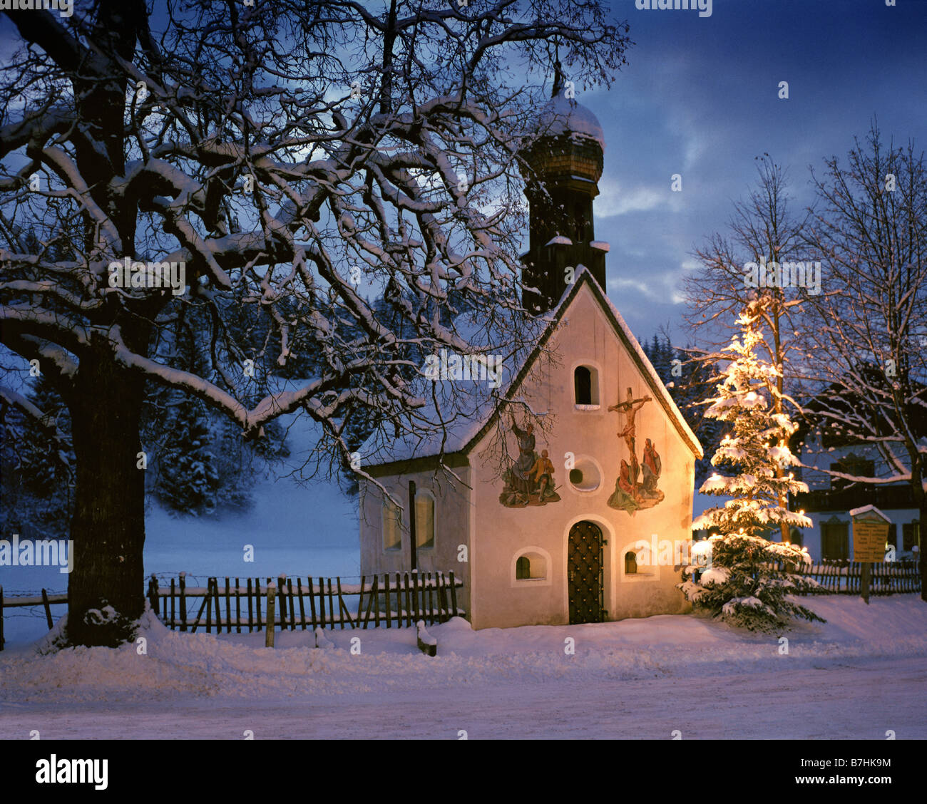 Where To Buy A Christmas Tree Near Me: BAVARIA: Christmas Scene At Klais Near Mittenwald