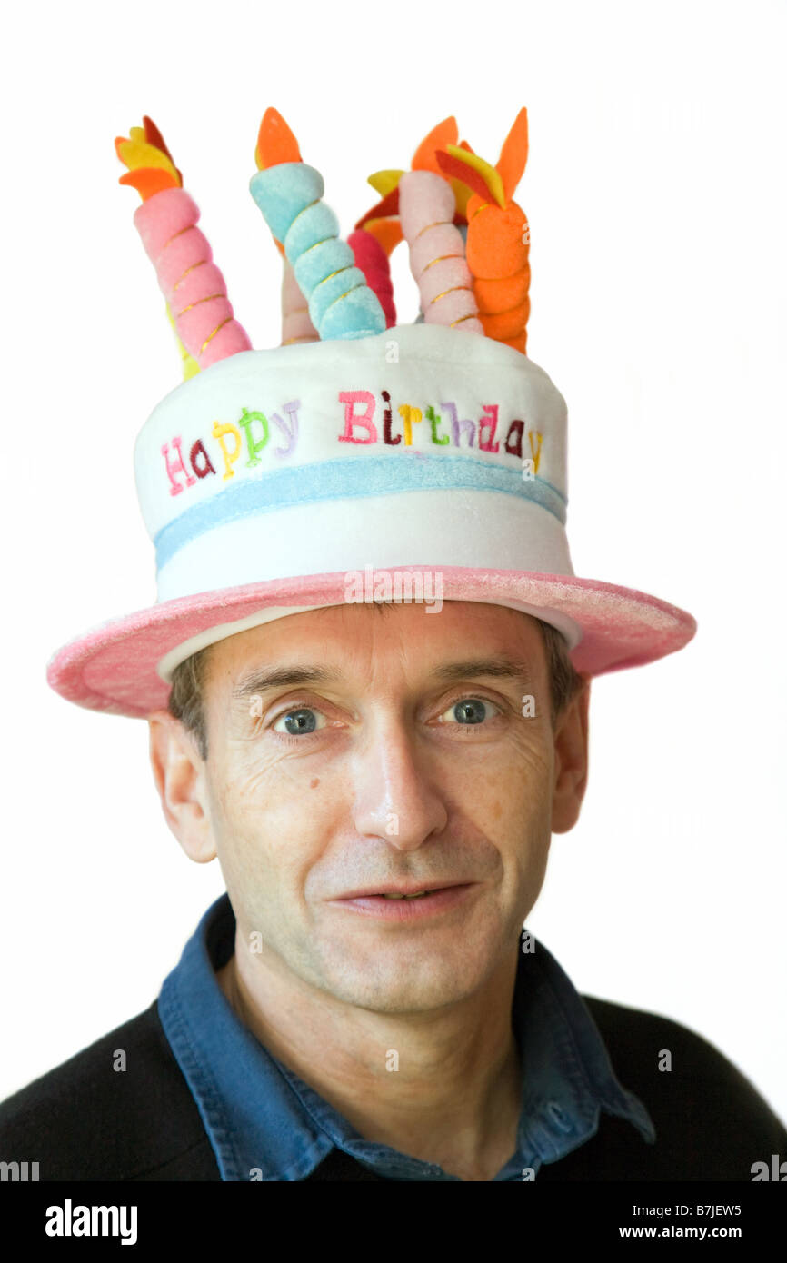 Happy Birthday The Middle Wiring Diagrams Aiwa Color Television Tv Se141 Type K And Eg Schematic Diagram Handsome Aged Man In A Hat Stock Photo Rh Alamy Com