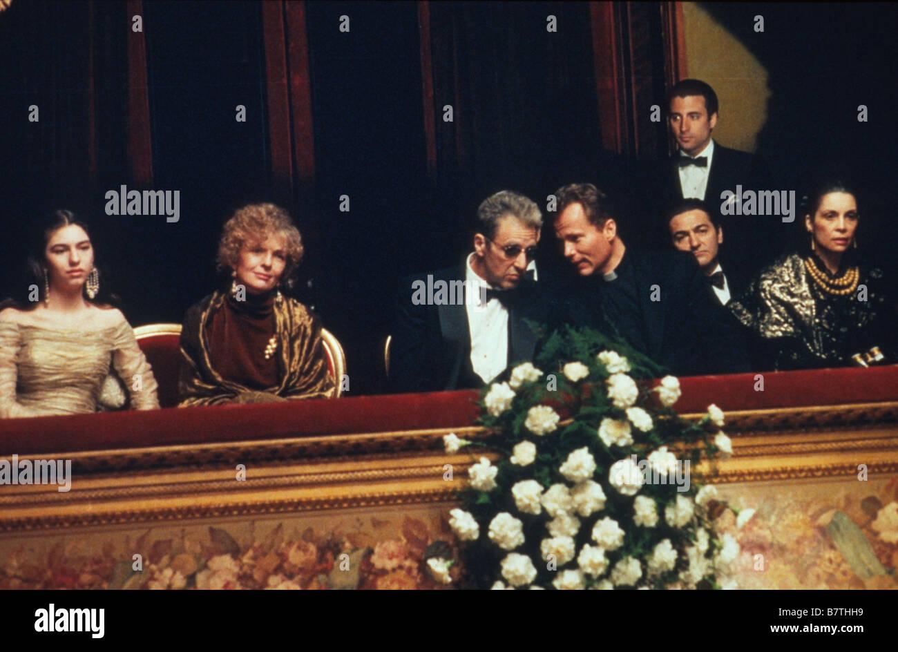 The Godfather: Part III  Year: 1990  USA Director: Francis Ford Coppola Sofia Coppola , Diane Keaton, Al Pacino Stock Photo