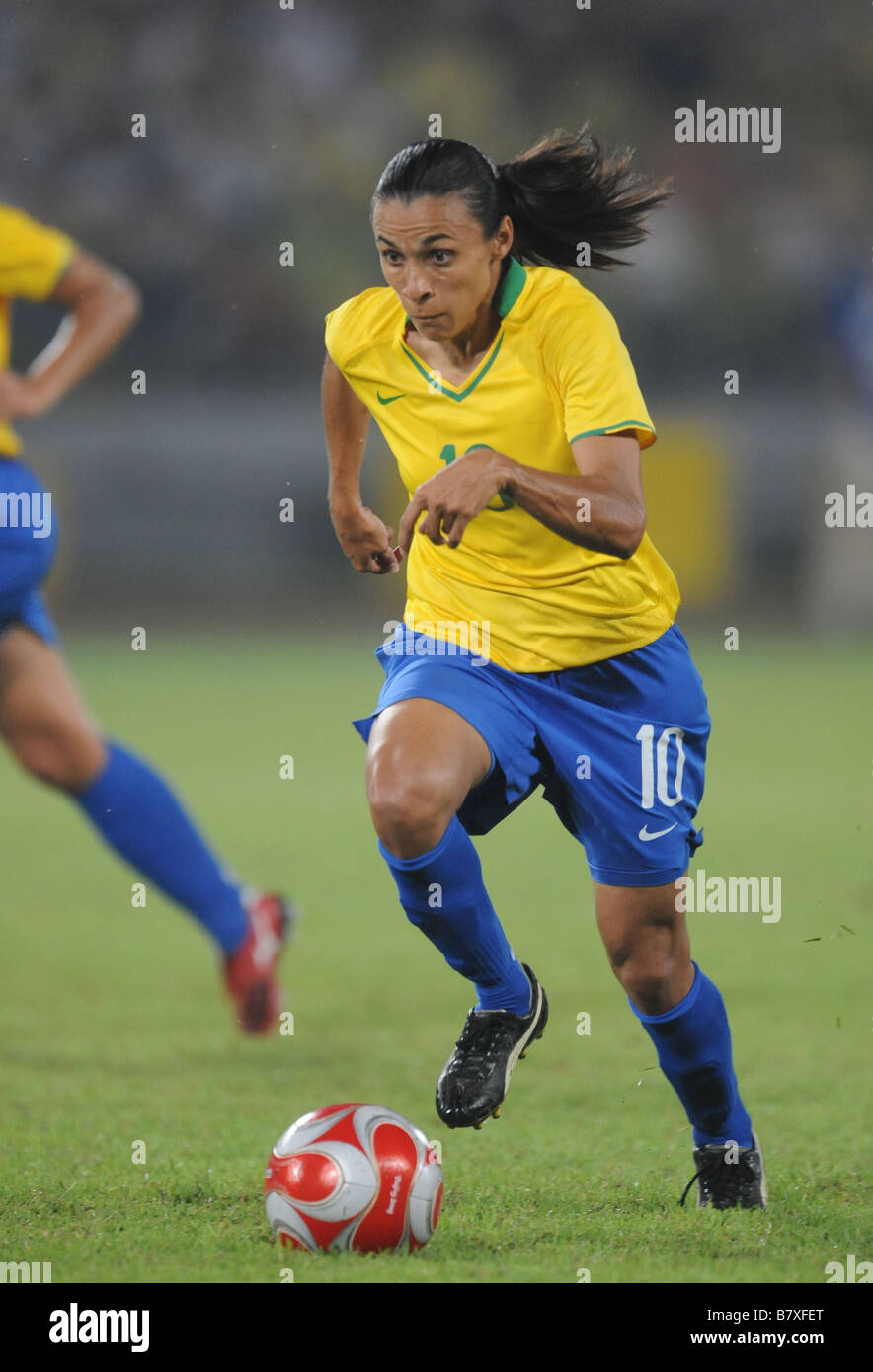 Marta BRA AUGUST 21 2008 Football Beijing 2008 Olympic Games Womens Football Final Match between Brazil and United - Stock Image