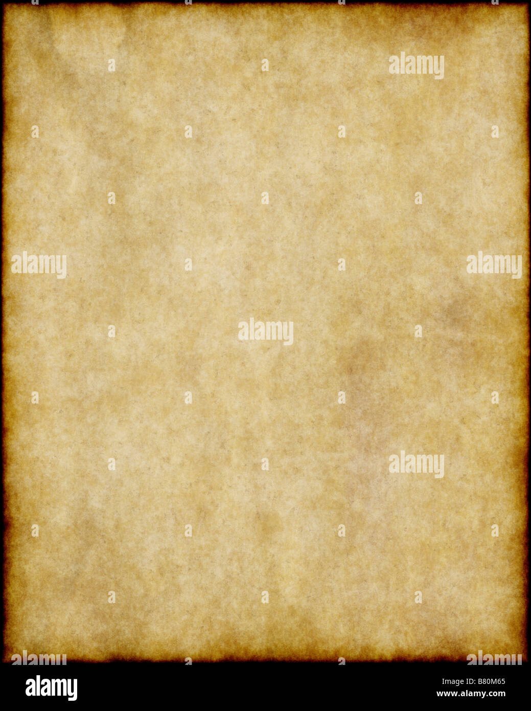 old worn parchment paper background texture image - Stock Image