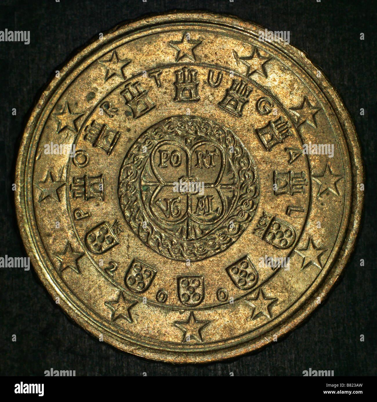 10 Euro cent coin axial illumination - Stock Image