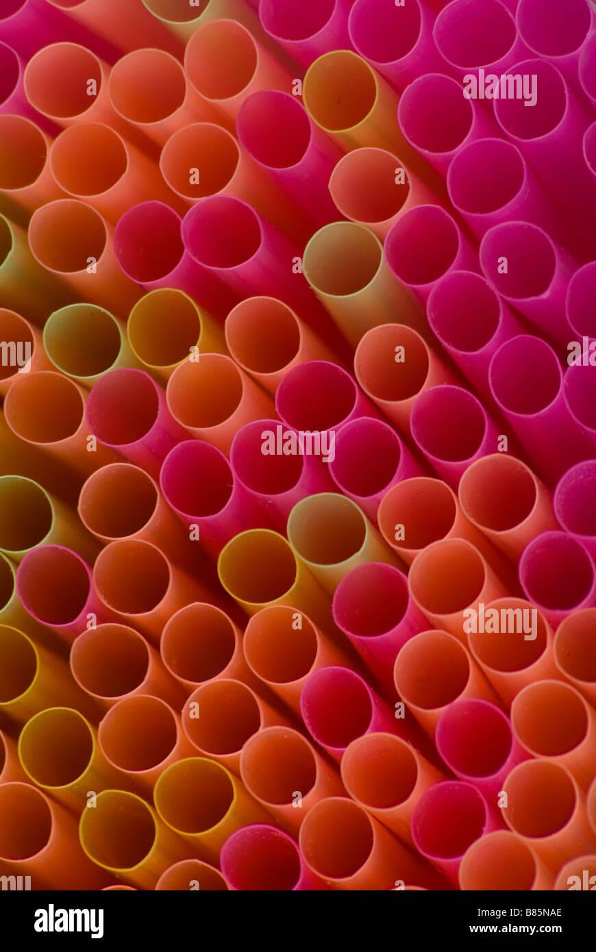 Box of Straws - Stock Image