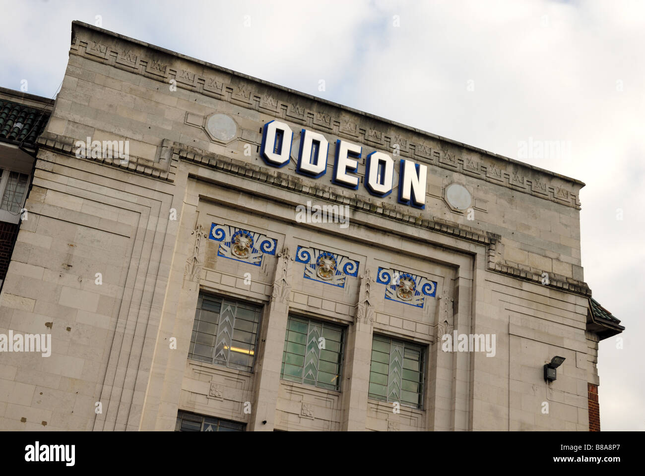 Odeon cinema front - Stock Image