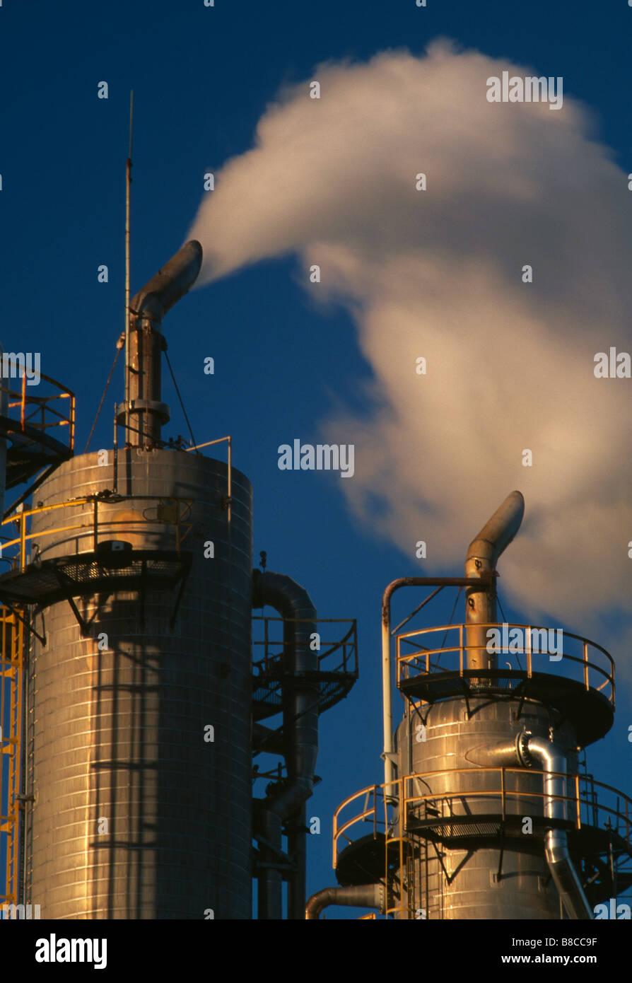 CARBON DIOXIDE EMISSIONS - Stock Image
