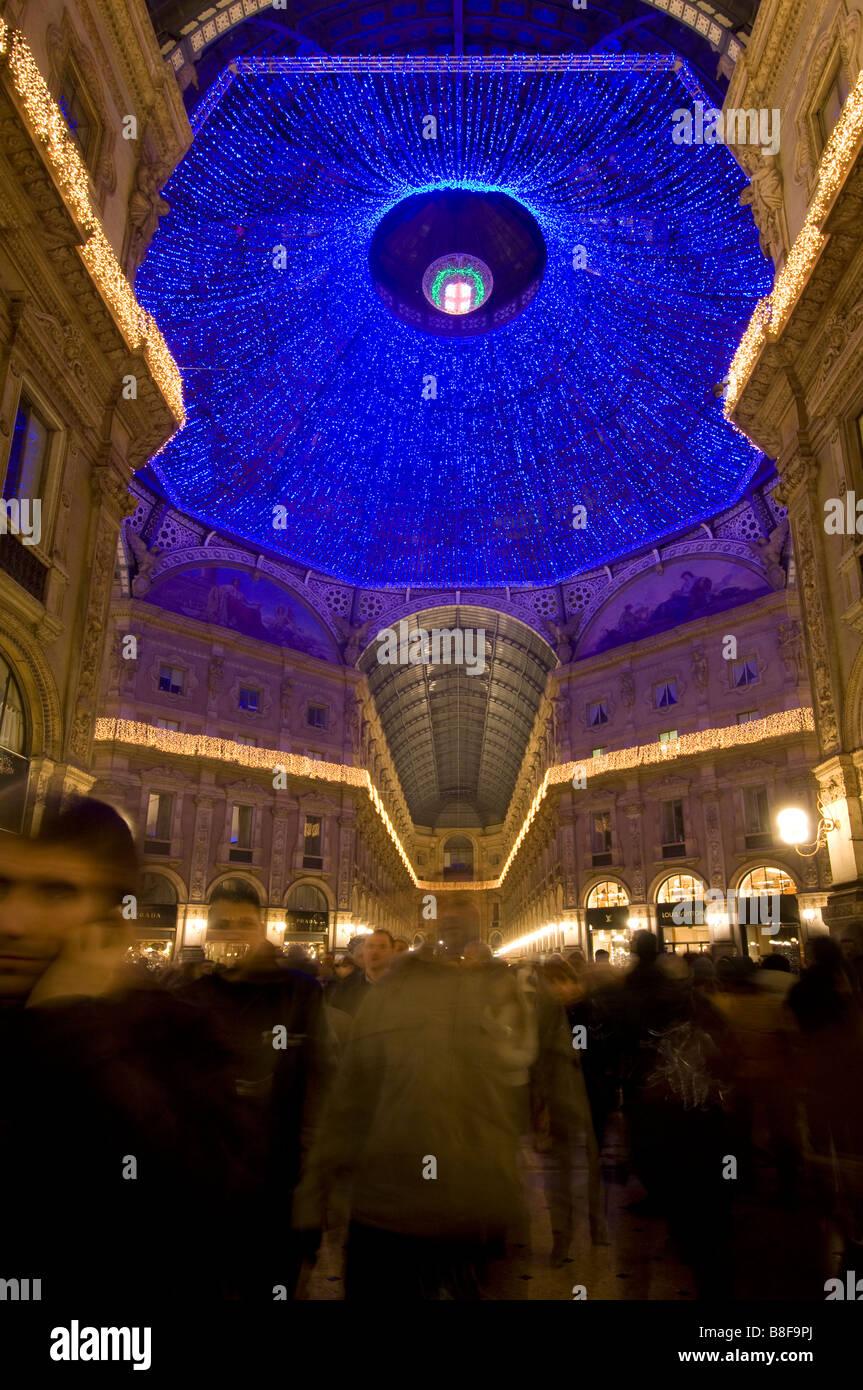 Milan Galleria Vittorio Emanuele italy milano - Stock Image