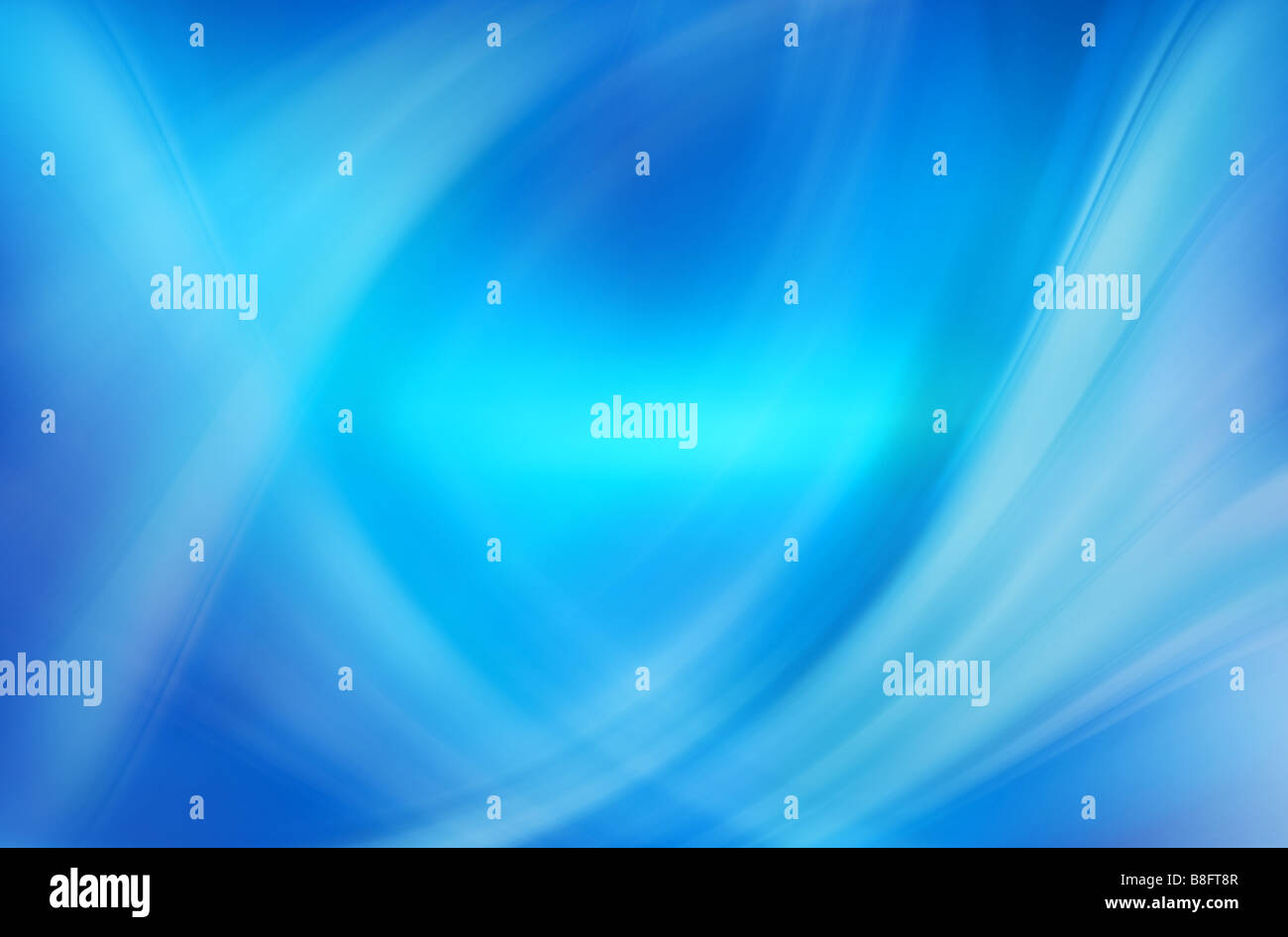 great abstract blue waves and lines image - Stock Image