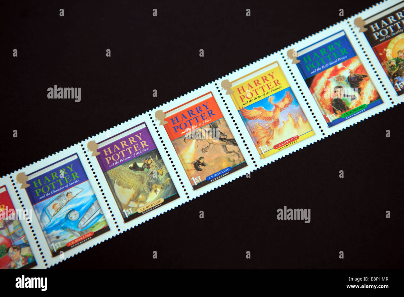 Harry Potter stamps - Stock Image