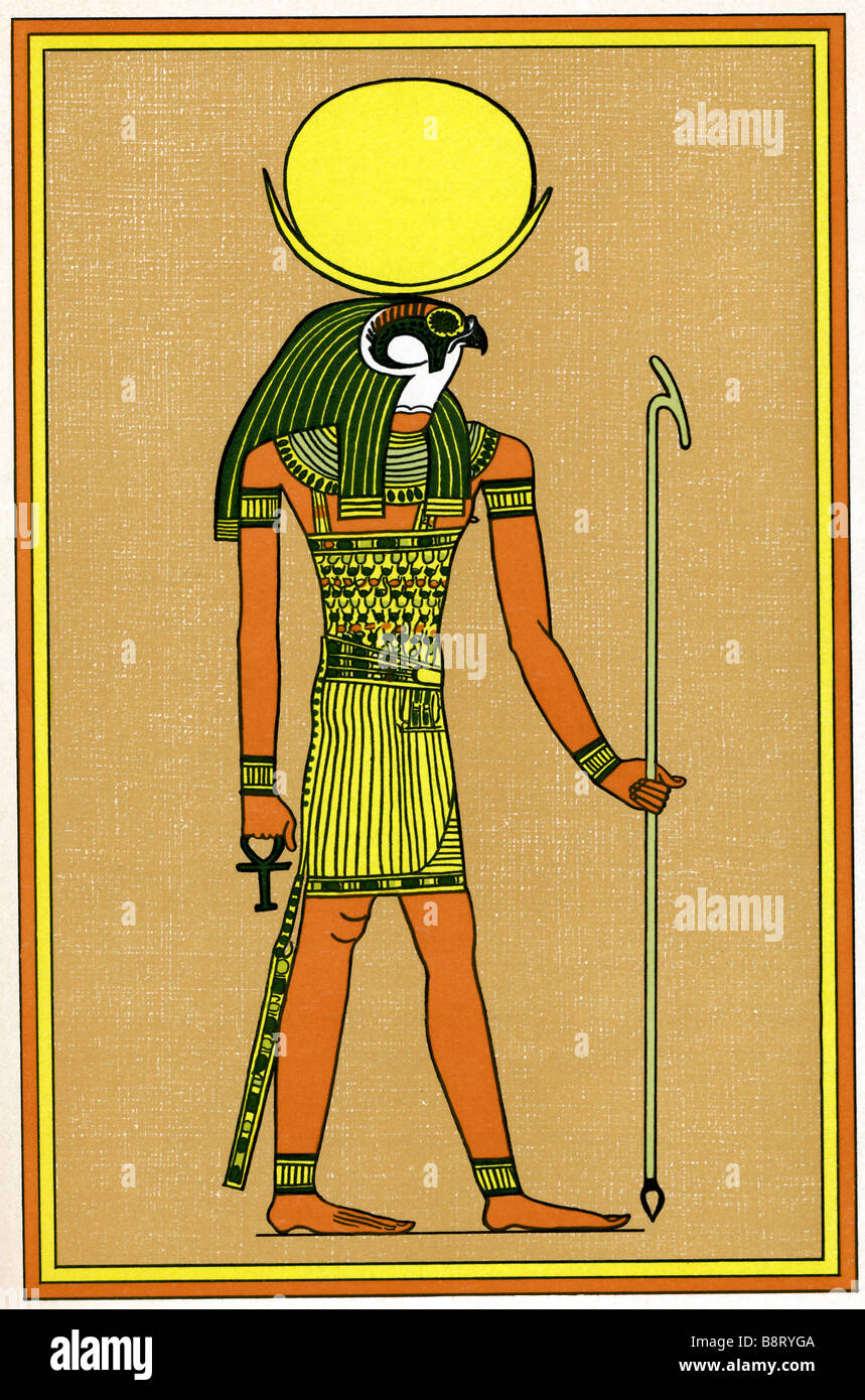 Egyptian God Khonsu Stock Photo