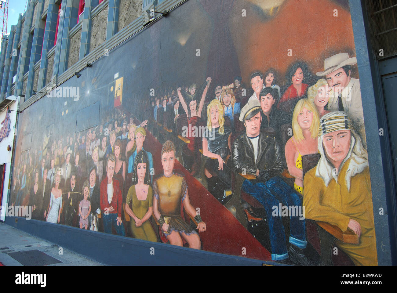 'You Are The Star' wall mural, Hollywood Boulevard & Wilcox Street, Hollywood, Los Angeles, California, - Stock Image