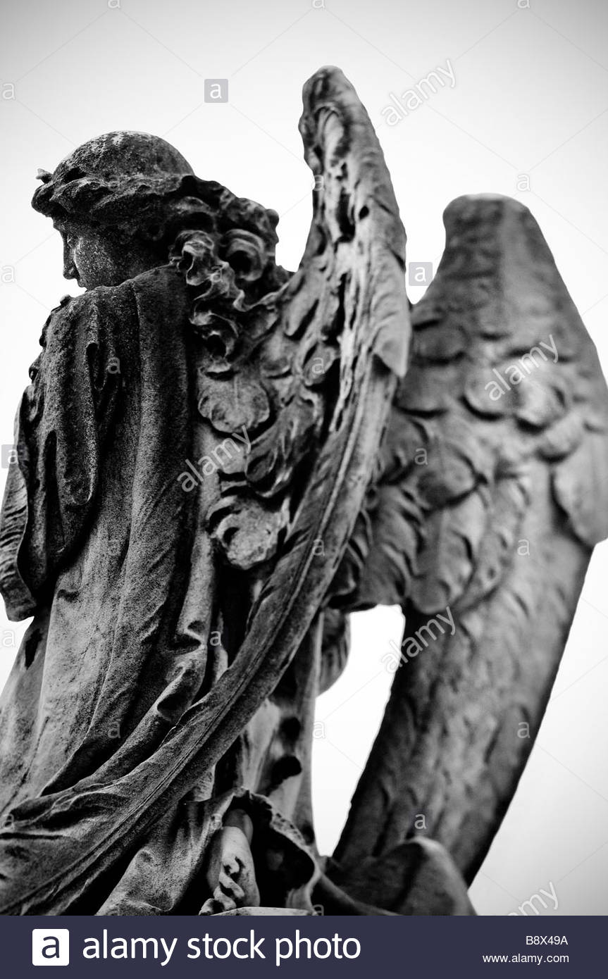 France. 2009. Angel Statue - Stock Image