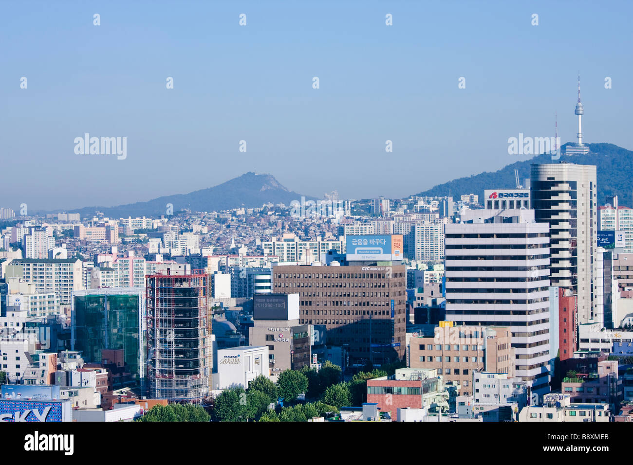 Downtown Seoul, South Korea - Stock Image