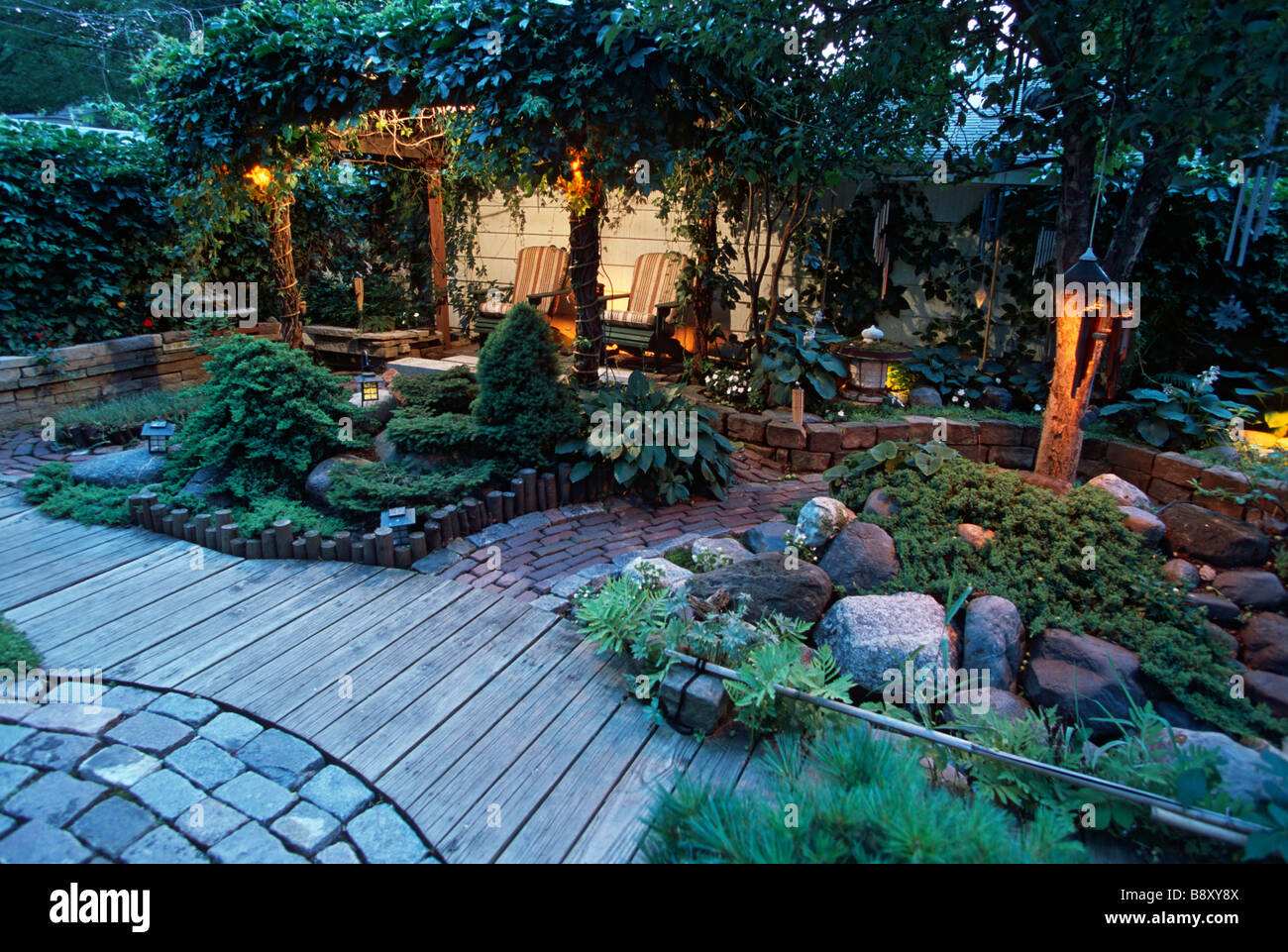 japanese outdoor lighting patio japaneseinspired garden in minnesota includes outdoor seating area with lights for evening use summer