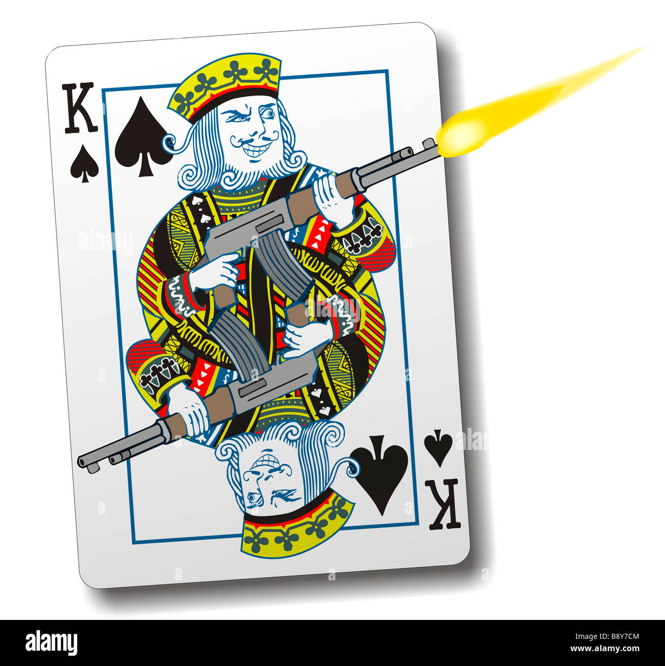 King Of Spades With A Gun Stock Photo 22726164 Alamy