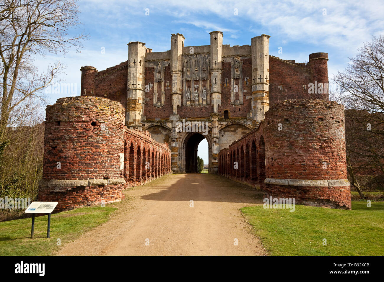 Thornton Abbey Gatehouse near Thornton Curtis in Lincolnshire England UK Stock Photo