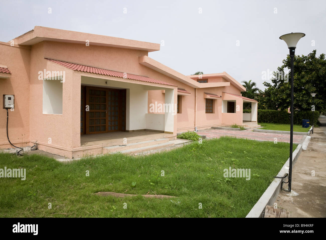 a new house which is part of a modern development of housing for professional middle class people hazira gujarat india - Modern New Houses