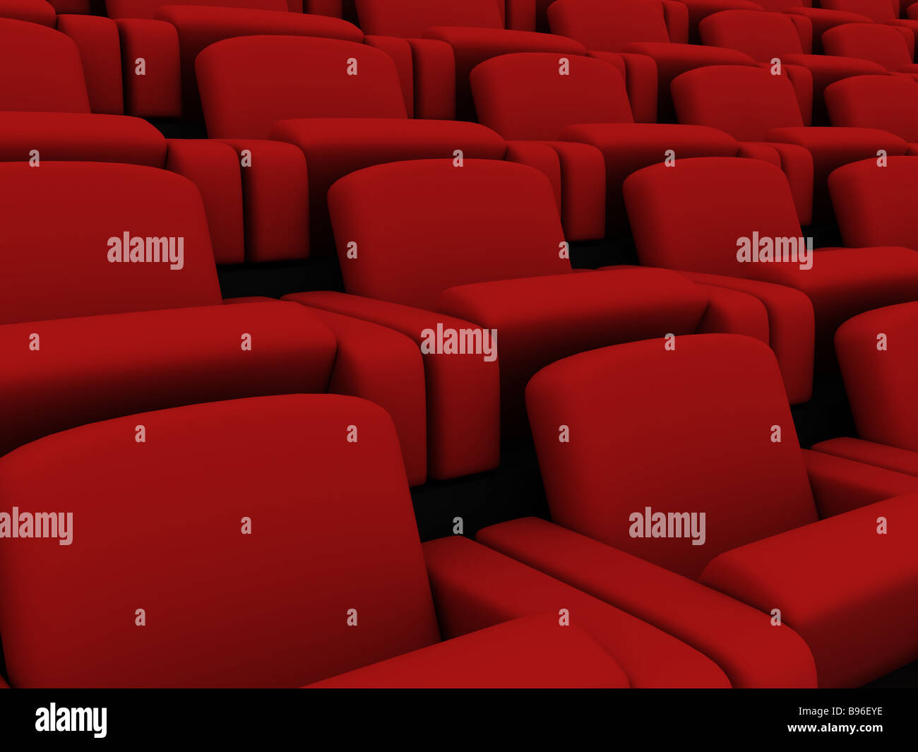 cinema seats - Stock Image