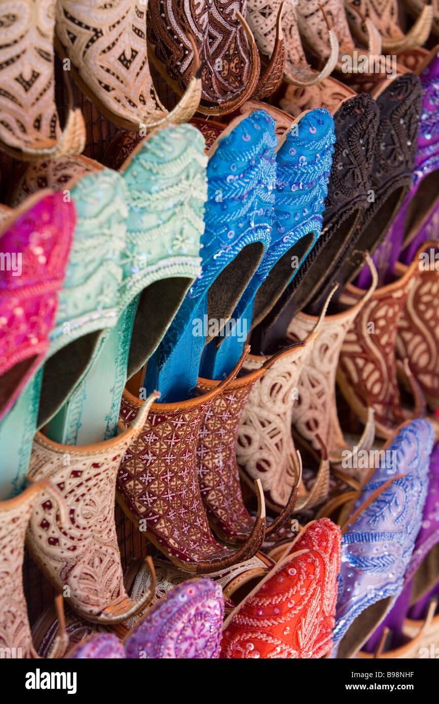 Shoes for sale, Dubai, United Arab Emirates - Stock Image