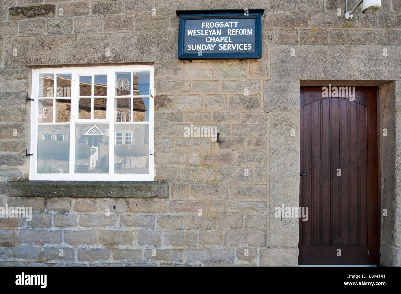 Froggatt Wesleyan Reform Chapel, Derbyshire, England,'Great Britain' - Stock Image