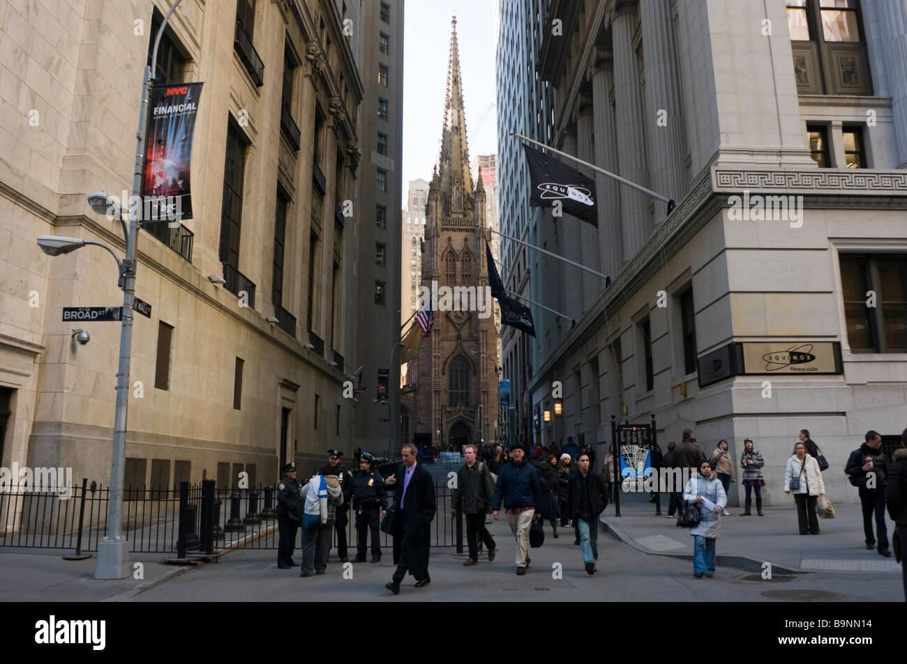 New York NY 24 March 2009 Wall Street - Stock Image