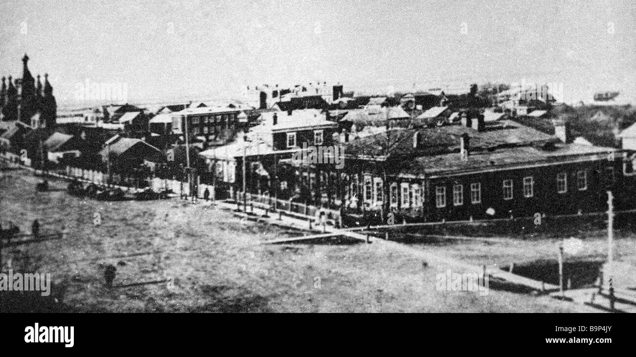 Khabarovsk city in the early twentieth century - Stock Image