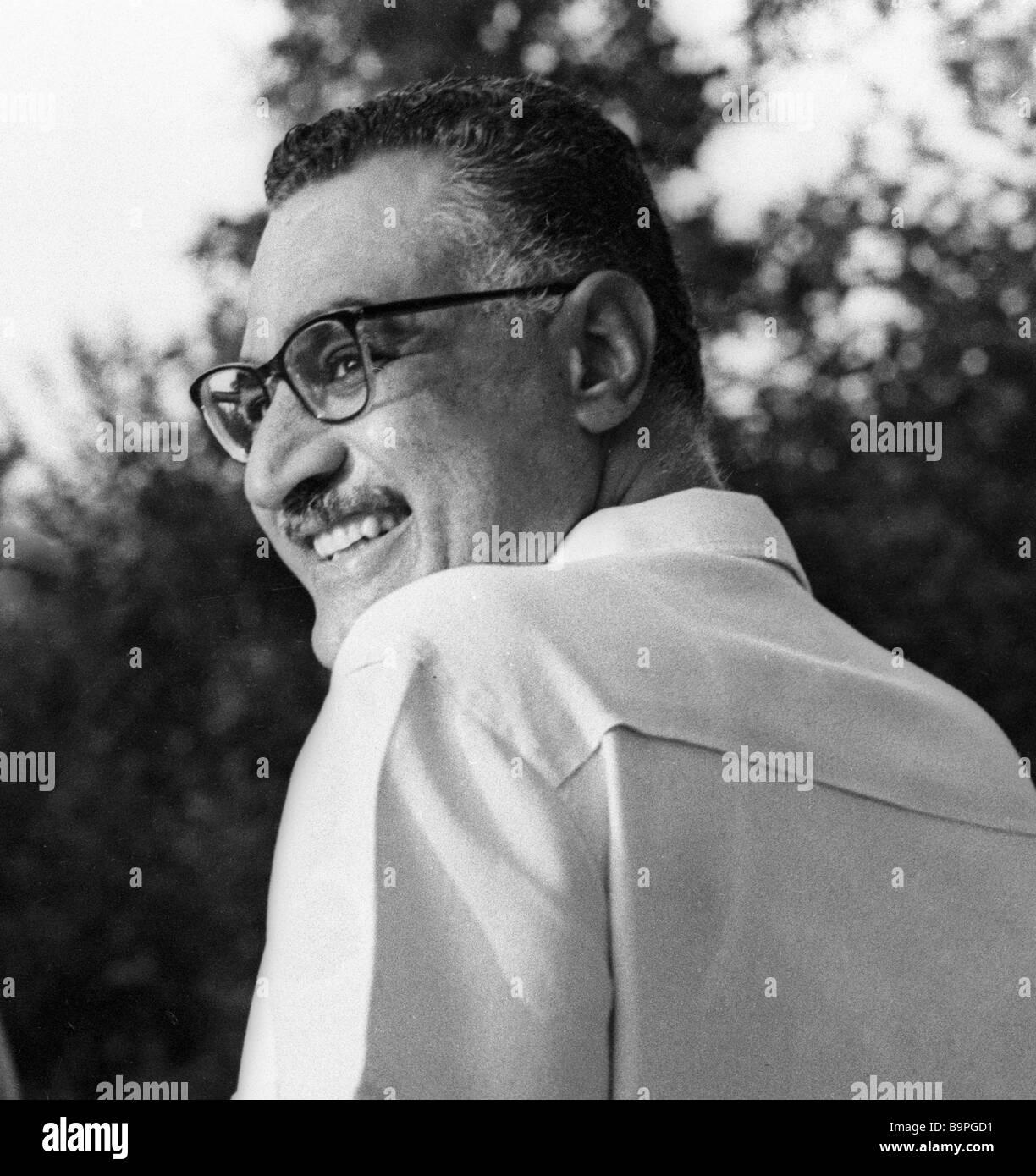 The UAR President Gamal Abdel Naser at rest in Tskhaltubo - Stock Image