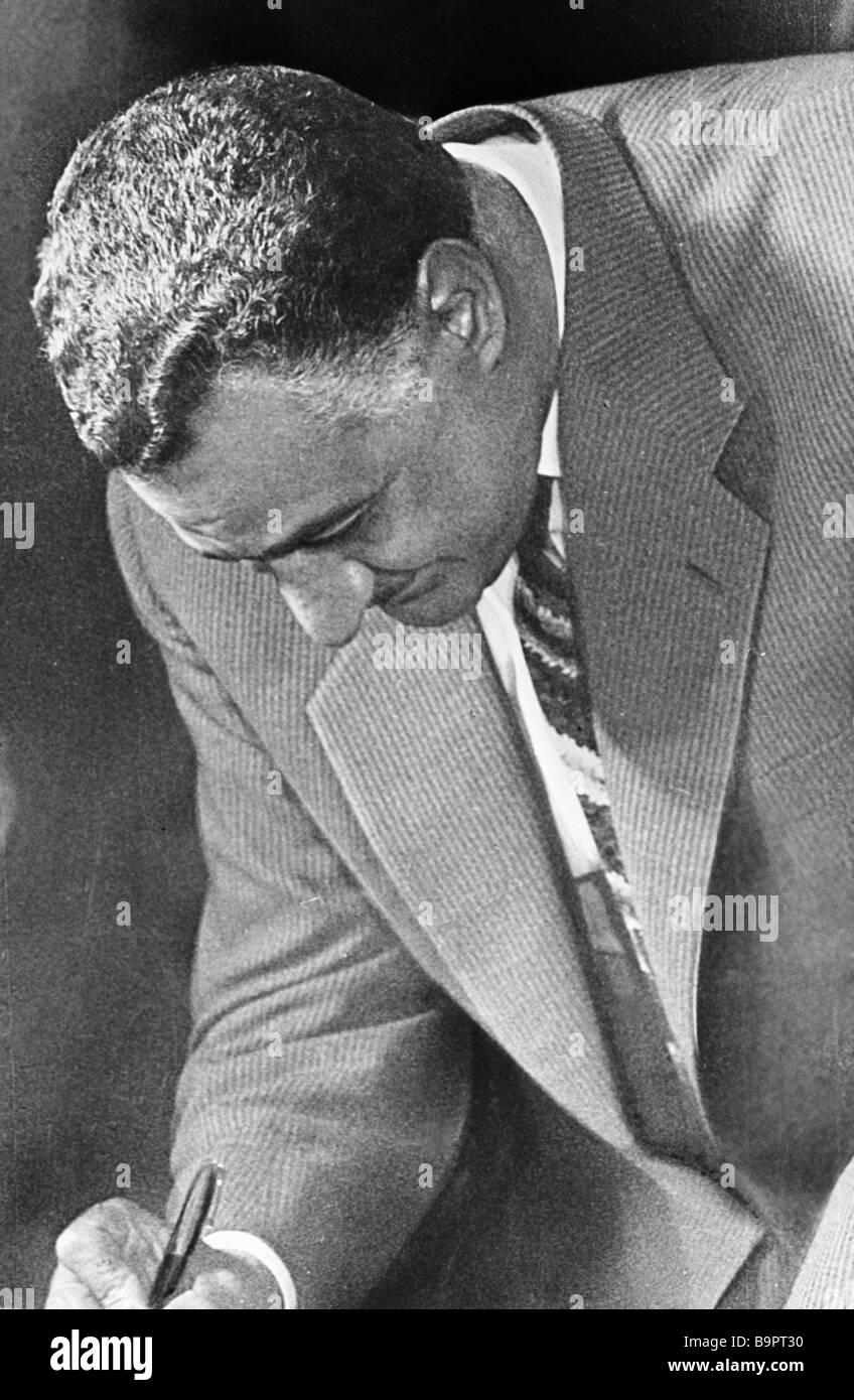 Egyptian President Gamal Abdel Nasser - Stock Image