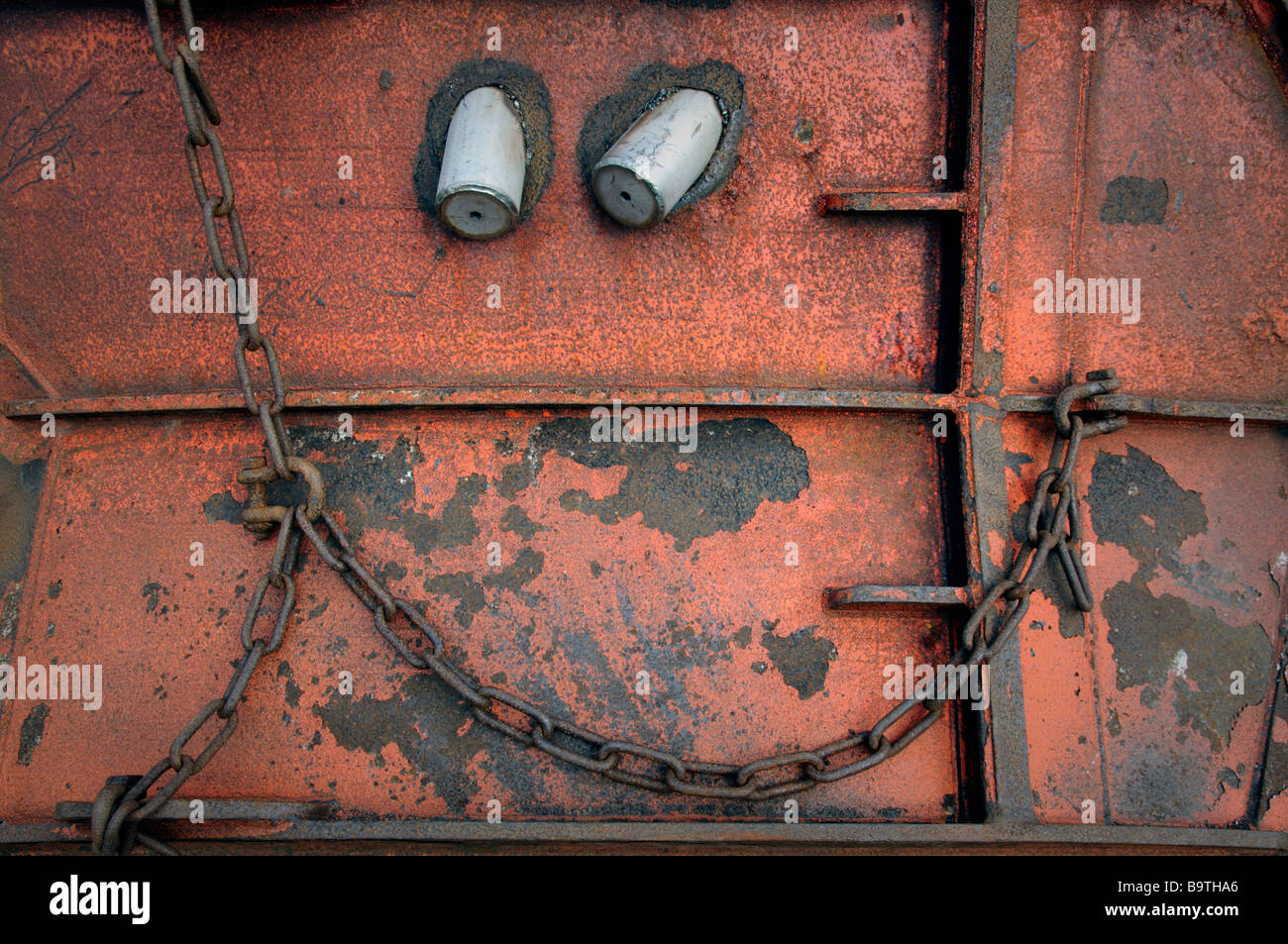 Detail from quayside shipping equipment - Stock Image