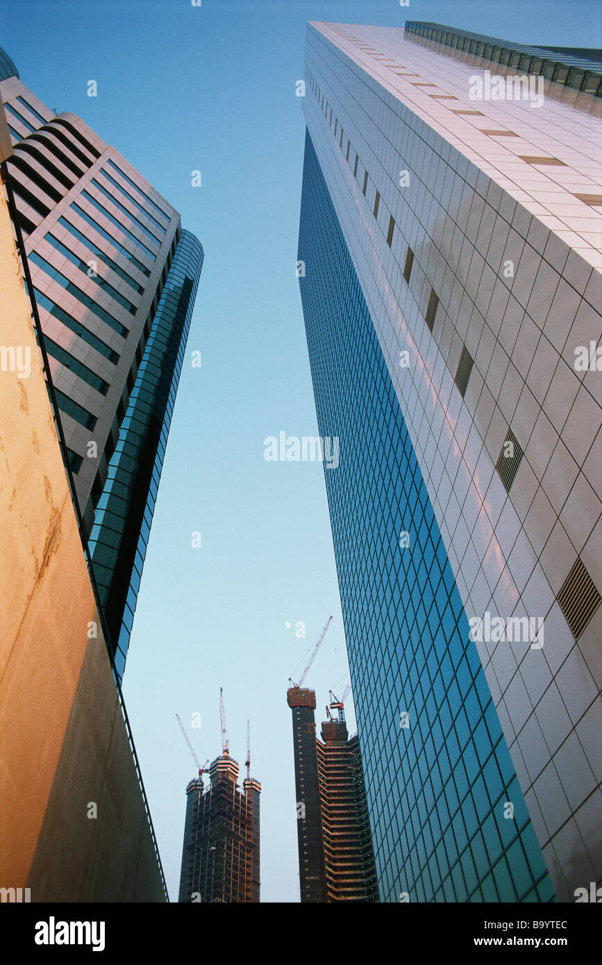 High rise buildings, low angle view Stock Photo